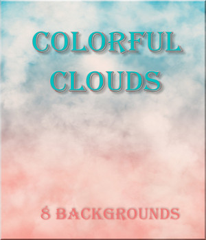Colorful Clouds Backgrounds 2D Graphics raynemyst
