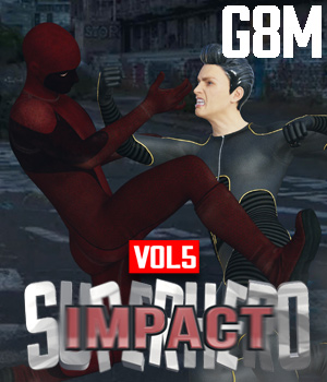 SuperHero Impact for G8M Volume 5 3D Figure Assets GriffinFX