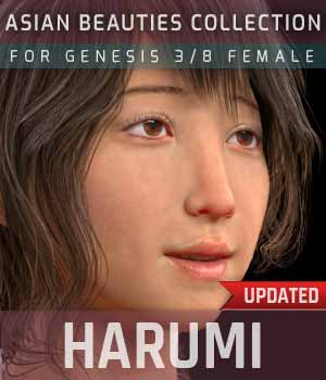 Harumi G3G8F for Genesis 3 and 8 Female 3D Figure Assets gravureboxing