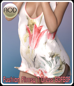 Fashion: Flimsy T Dress 3D Figure Assets ArtOfDreams