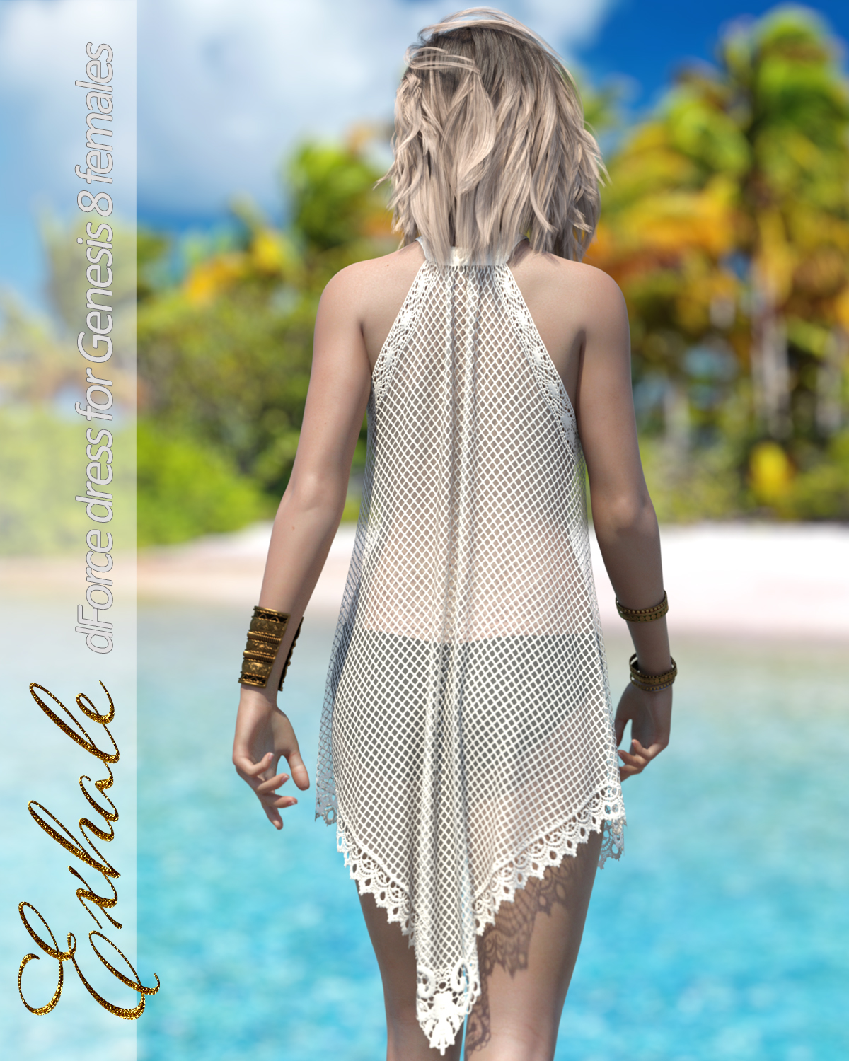 Exhale dForce dress for Genesis 8 Females