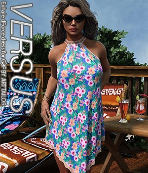 VERSUS - Exhale dForce dress for G8F 3D Figure Assets Anagord