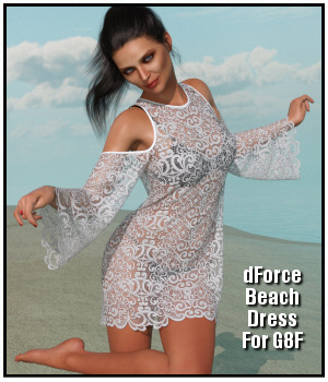 dForce - Beach Dress for G8F 3D Figure Assets Lully