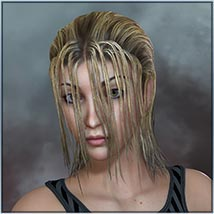 Actual Wet Hair for V4, M4 and La Femme and L'Homme - Poser image 1