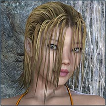 Actual Wet Hair for V4, M4 and La Femme and L'Homme - Poser image 2