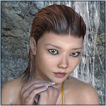 Actual Wet Hair for V4, M4 and La Femme and L'Homme - Poser image 5