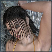 Actual Wet Hair for V4, M4 and La Femme and L'Homme - Poser image 6