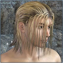 Actual Wet Hair for V4, M4 and La Femme and L'Homme - Poser image 7