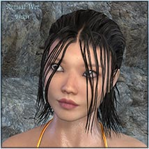 Actual Wet Hair for V4, M4 and La Femme and L'Homme - Poser image 8