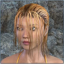 Actual Wet Hair for V4, M4 and La Femme and L'Homme - Poser image 9