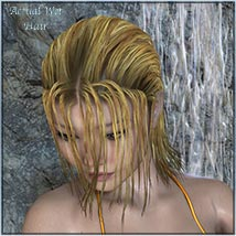 Actual Wet Hair for V4, M4 and La Femme and L'Homme - Poser image 10