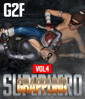 SuperHero Grappling for G2F Volume 4 3D Figure Assets GriffinFX