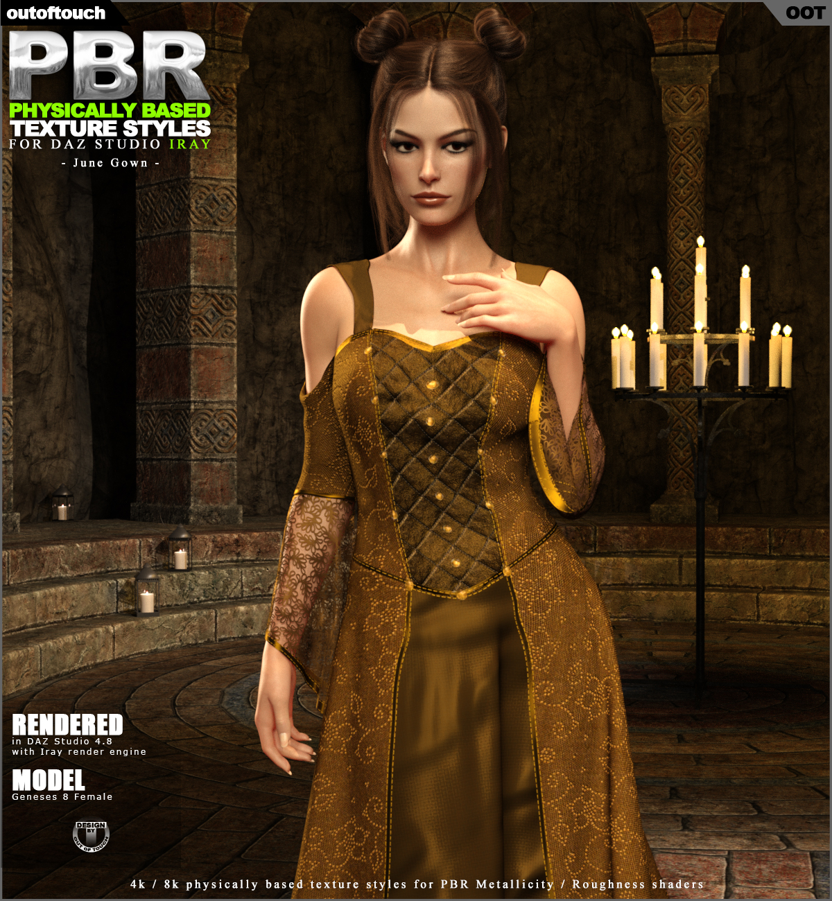 OOT PBR Texture Styles for June Gown