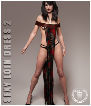 dForce Sexy Loin Dress 2 for Genesis 8 Females