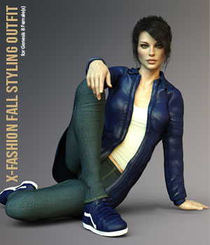 X-Fashion Fall Styling Outfit 3D Figure Assets xtrart-3d