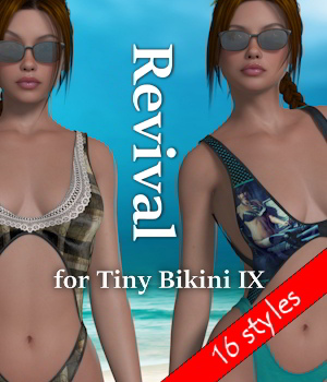Revival for Tiny Bikini IX V4_Poser 3D Figure Assets JudibugDesigns
