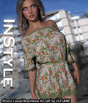 InStyle - dForce Casual Beachwear for Genesis 8 Females 3D Figure Assets -Valkyrie-