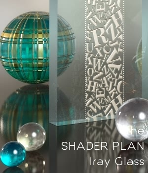 Shader Plan - Iray Glass 3D Figure Assets fabiana
