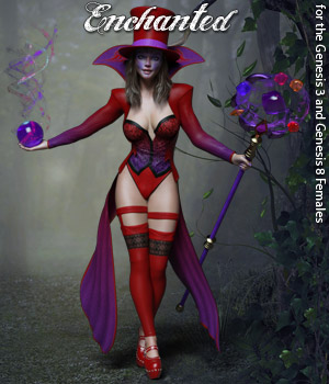 RP Enchanted for G3 and G8 Females 3D Figure Assets RPublishing