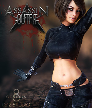 Assassin Outfit G8F 3D Figure Assets Man7a