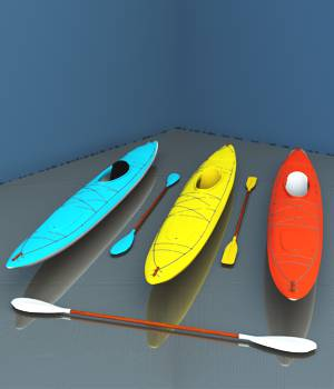 Sea Kayaks For Vue 3D Models forester