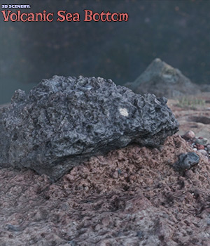 3D Scenery: Volcanic Seabottom for Poser and Daz Studio 3D Models ShaaraMuse3D