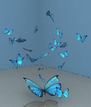 A Flutter Of Blue Butterflies For Vue 3D Models forester