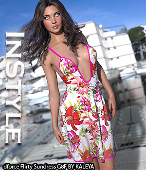 InStyle - dforce Flirty Sundress G8F 3D Figure Assets -Valkyrie-