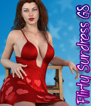 dforce Flirty Sundress G8 3D Figure Assets kaleya