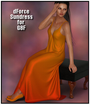 dForce - Sundress for G8F 3D Figure Assets Lully