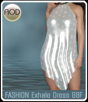 Fashion: Exhale Dress 3D Figure Assets ArtOfDreams