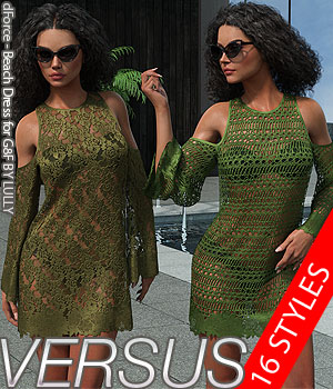 VERSUS - dForce - Beach Dress for G8F 3D Figure Assets Anagord