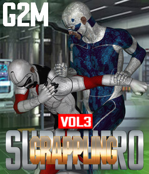 SuperHero Grappling for G2M Volume 3 3D Figure Assets GriffinFX