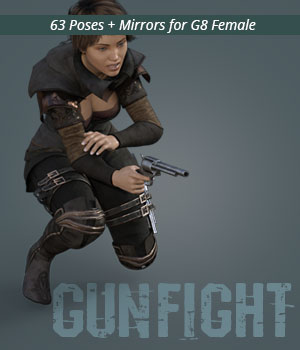 GUNFIGHT for Genesis 8 Female 3D Figure Assets PainMD