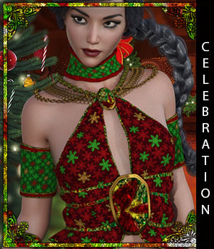 Celebration for Zenobia 3D Figure Assets sandra_bonello