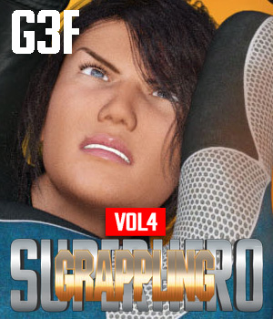 SuperHero Grappling for G3F Volume 4 3D Figure Assets GriffinFX