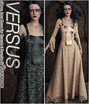 VERSUS - dForce June Gown for Genesis 8 Females 3D Figure Assets Anagord