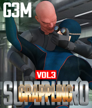SuperHero Grappling for G3M Volume 3 3D Figure Assets GriffinFX