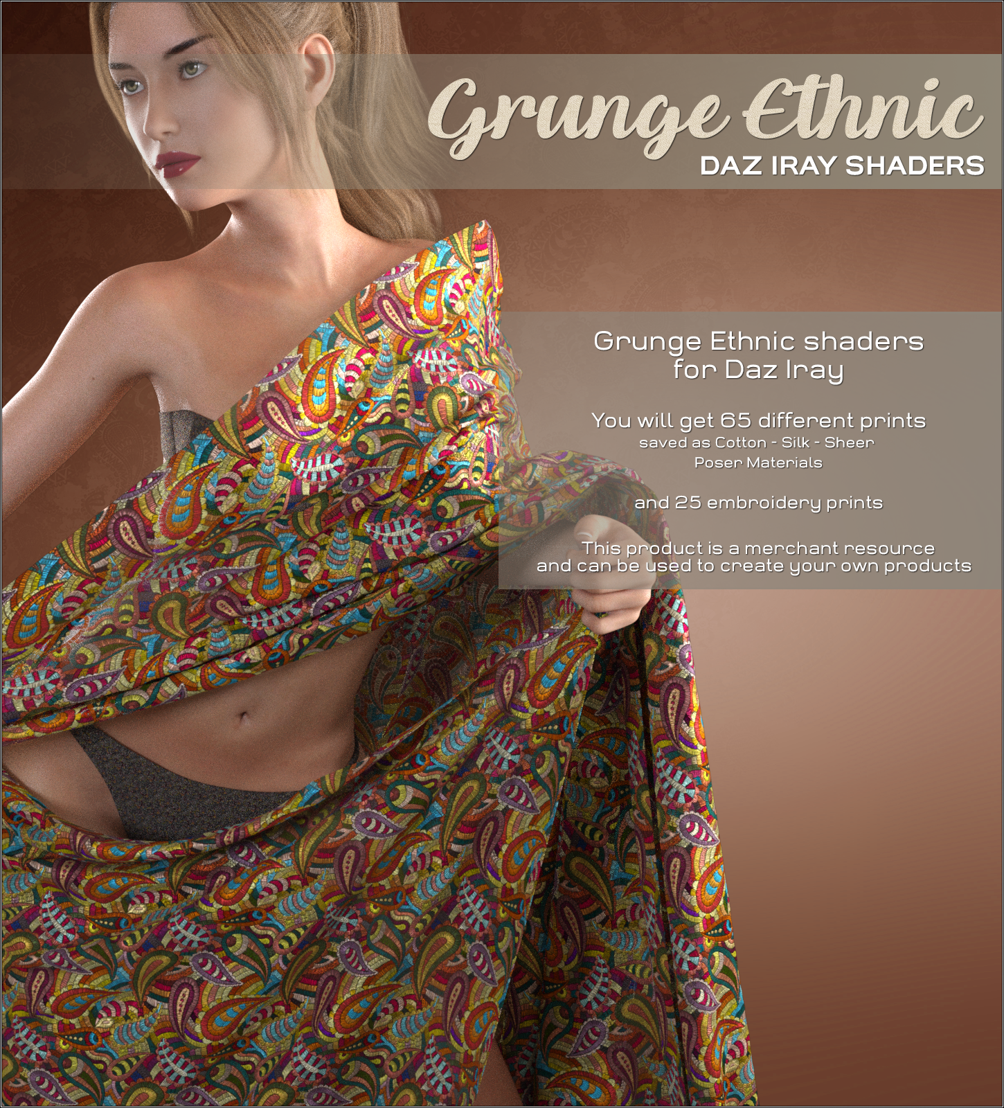 Daz Iray - Ethnic Silks by Atenais