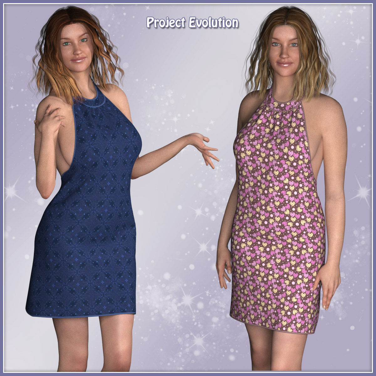 Gina Dress and 10 Styles for PE, V4, Miki 4, Dawn, Pauline and Roxie