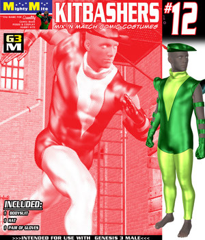 Kitbashers 012 MMG3M  3D Figure Assets MightyMite