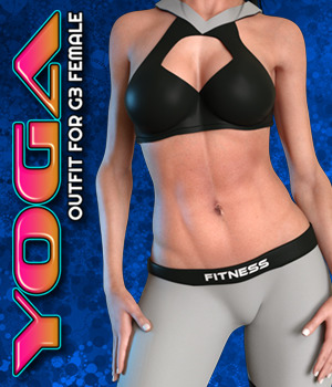 Exnem Yoga Outfit for Genesis 3 Female 3D Figure Assets exnem