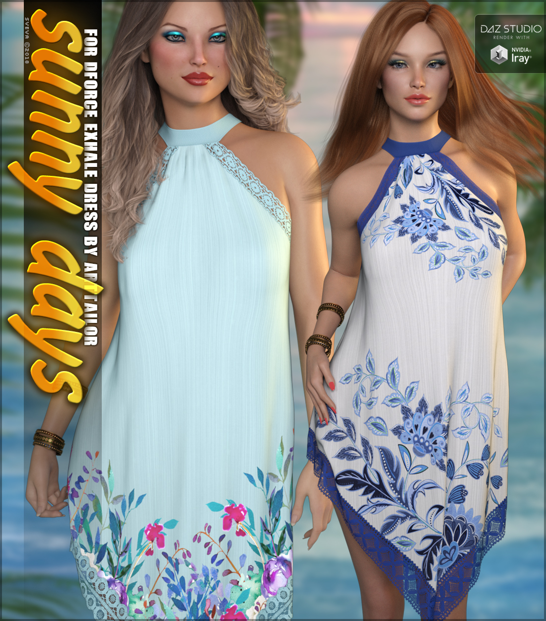 Sunny Days for dForce Exhale Dress G8F