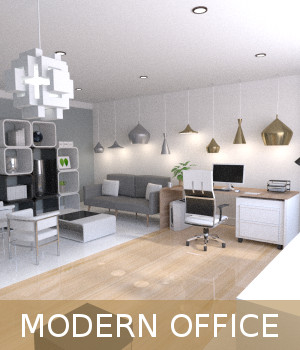 Modern Office 3D Models TruForm