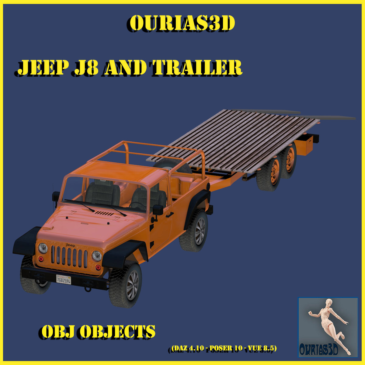 Jeep J8 and Trailer - Extended License