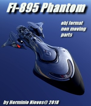 FI-895 Phantom - Extended License 3D Game Models : OBJ : FBX 3D Models Extended Licenses sevein
