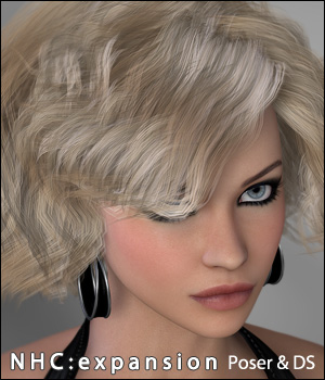 NHC Expansion : Cait Hair 3D Figure Assets digiPixel