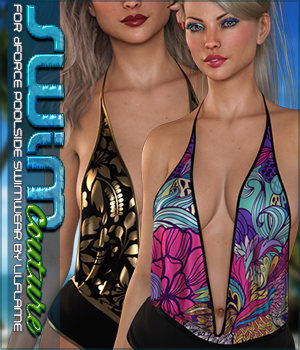 SWIM Couture for dForce Poolside Swimwear G8F 3D Figure Assets Sveva