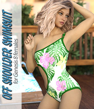 Off Shoulder Swimsuit for Genesis 8 Female Daz Studio 3D Figure Assets ArtTailor