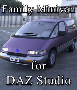 Family Minivan for DAZ Studio  3D Models VanishingPoint